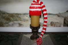 Santa Hat 12 inch Red and white candy cane baby elf hat by SweetTsShoppe, $14.95