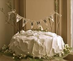 bunting wedding cake topper - Google Search