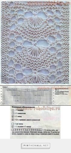 Lovely lace knitting pattern, called Grand Shell or Hoopskirt pattern according to Barbara Walker; looks like an inverted fan or shell ~~