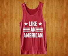 Like An American USA Merica Summer Beach Cool Funny TANK TOP