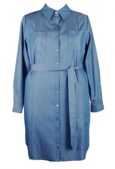Denim Shirt Dress - Plus Size Clothing Vestiti Di Dimensioni Particolari d571aed8d13