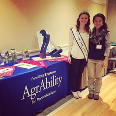 AgrAbility Project Assistant and the Centre County Grange Fair Queen at the PA Women's Agricultural Network conference! #pawagn #agrability