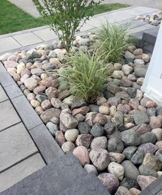 gorgeous front yard rock garden landscaping ideas 6 < moeshouse - Sites new River Rock Landscaping, Stone Landscaping, Landscaping With Rocks, Outdoor Landscaping, Front Yard Landscaping, Outdoor Gardens, Landscaping Ideas, Rock Garden Design, Garden Inspiration