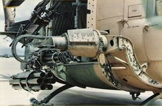 Empty rocket pod, Gatling gun and twin machine guns of a Helicopter Plane, Military Helicopter, Military Gear, Military Equipment, Military History, Military Aircraft, Military Vehicles, Vietnam War Photos, Vietnam Vets