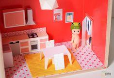 meuble poupée à imprimer - dollhouse DIY