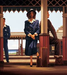 Jack Vettriano  The Railway Station  Oil on canvas  32 x 28 inches