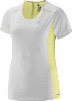Prezzi e Sconti: #Salomon agile ss t-shirt lady bianco/giallo  ad Euro 29.90 in #Salomon #Abbigliamento sportivo donna