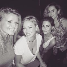 Hillary Duff and her friends