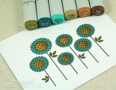 Copic flower card