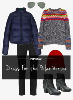 A perfectly cute way to wear your puffer jacket