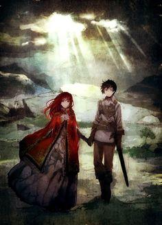"""I'll bring you to your prince"" --- This kinda looks like Shirayuki and Obi from Akagami no Shirayukihime."