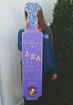 Alpha Sigma Alpha Pledge Mom Paddle Sorority