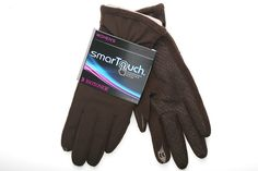 Brown Isotoner smarTouch Gloves for Women