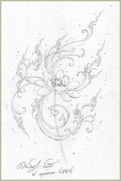 : Fun Learning traditional Thai Designs with JitdraThanee the Tutor Geometric Tattoo Lotus, Drawing Sketches, Art Drawings, Gemini Art, Sketch Style Tattoos, Thailand Art, Tibetan Art, Thai Art, Graphic Wallpaper