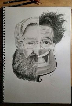 This Incredible Drawing Shows The Many Faces Of Robin Williams I'm sad to say I'll never get to meet you :(