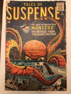 Tales of Suspense comic books comics Kirby Horror Comics, Marvel Comics, Comic Book Artists, Comic Books, Le Kraken, Are You Being Served, Tales To Astonish, Tales Of Suspense, Motif Art Deco