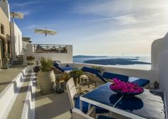 """""""Iconic Santorini"""", a unique boutique cave hotel located in the picturesque Greek island of Santorini. Restoration by A&T Kontodimas Architects #greekarchitects. #greekislands, #santorinis, #boutiquehotels, #iconichotel"""
