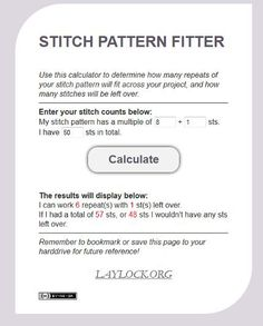 If you're the kind of knitter who hates math — and I think that covers a lot of us! — you need to know about the Stitch Pattern Calculator from Laylock Knitwear Design. This is a …