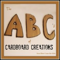 Cardboard box creations- Here Come the Girls