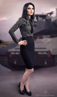 Military pin up by ~canismaioris on deviantART - I love this, it's so classy, punky but still nice enough to wear to work
