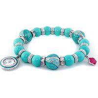 Lauren G Adams Hidden Treasures Rhodium Plated Sky Blue Bead Charm Bracelet$100More details