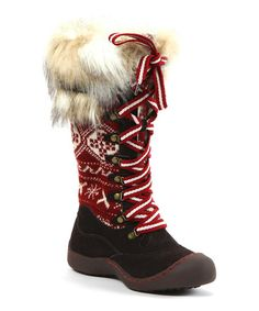 ff9c6587d979b Muk Luks - Brown Gwen X Fair Isle Snow Boot - these are cute