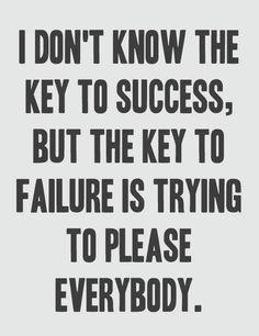 Key to success vs. key to failure