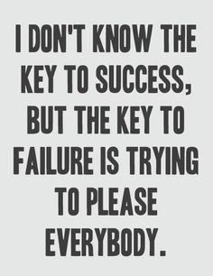 Key to success vs. key to failure