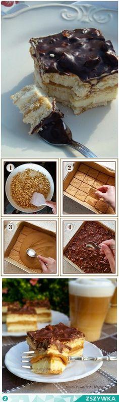 Zobacz zdjęcie MAXI KING!!! CIASTO BEZ PIECZENIA...Idealne dla leniuszków <3 MAXI KING CIASTO SKLADNIKI: ok. 400 g herbatników, 1 puszka gotowego masy krówkowej (lub mleka skondensowanego słodzonego gotowanego przez 2,5 - 3 godziny) SKLADNIKI MASY MLECZNEJ: 1,5 kostki miękkiego masła, 1 szklanka mleka, 3/4 szklanki cukru, 2 łyżeczki cukru waniliowego, 400 - 500 g mleka w proszku (miałkiego) SKLADNIKI POLEWY; 2 czekolady gorzkie, 1/2 szklanki kremówki, 150 g orzechów laskowych (ew. ziemnych)…