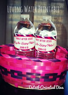 : Christ-Centered Easter Basket: { Thirst After Jesus } Van Liew Adams - Neat Idea, would make my own KJV label Christian Crafts, Christian Easter, Christian Symbols, Marriage Retreats, Blessing Bags, Church Activities, Toddler Activities, Easter Printables, Free Printables
