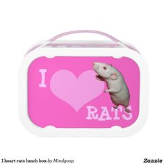 I heart rats lunch box