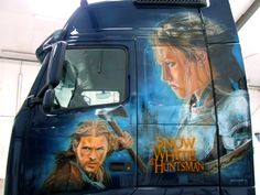 Airbrush, Murals, Trucks, Fictional Characters, Style, Wall Murals, Track, Truck, Fantasy Characters