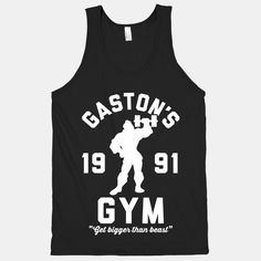 Gaston's Gym Racerback | by lookhuman.com--officially on its way to my house!