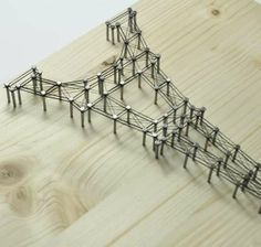 3D Architectural Wall Art - This DIY Makes an Eiffel Tower Picture Out of Nails and Thread (GALLERY)