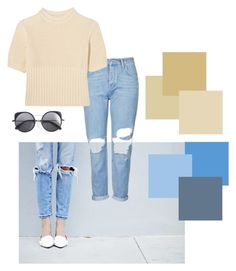 """""""Summer pastel tones •"""" by amberkpickup ❤ liked on Polyvore featuring Topshop, Totême and Wood Wood"""