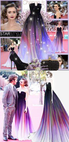 Elegant Floor Length Prom/Evening Dress - Purple Gradient A-Line with Sash Prom Dresses 2016, Elegant Prom Dresses, A Line Prom Dresses, Cheap Prom Dresses, Prom Party Dresses, Evening Dresses, Matric Dance Dresses, Queen, Evening Party