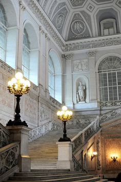 """""""The wonderful royal palace of Napoli 🏛👑 . Classical Architecture, Beautiful Architecture, Beautiful Buildings, Art And Architecture, Architecture Details, Beautiful Places, Grand Staircase, Royal Palace, Versailles"""