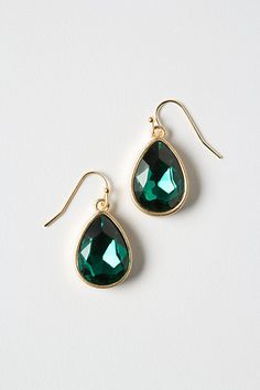 emerald looking glass earrings by anthropologie