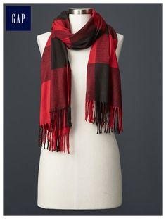 Cozy buffalo plaid scarf