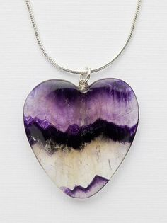 Blue John Cavern: Hand Crafted Blue John Stone Heart