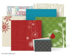 Be Merry Paper and Photo Mat Pack from Creative Memories. Limited edition product!