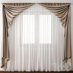 Cortinas – Dining Rooms ML – Dining Room Ideas Curtain Styles, Curtain Designs, Curtain Ideas, Drapery Ideas, Cute Curtains, Drapes Curtains, Small Window Curtains, Vintage Curtains, Window Coverings