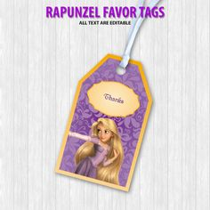 Rapunzel Favor Tags by DigitalDesignChile on Etsy