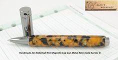 Handmade Gun Metal Zen Rollerball Magnetic Pen by GlensWorkshop, $44.95