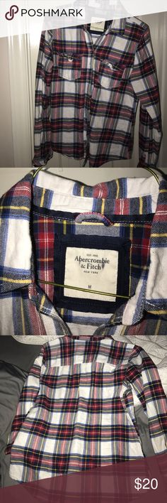 Spotted while shopping on Poshmark: Flannel button up! #poshmark #fashion #shopping #style #Abercrombie & Fitch #Tops