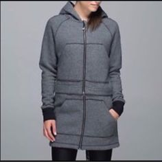 LULULEMON long and short of it fleece jacket NWOT. This never been worn jacket is super cozy and versatile. It can either be worn long or short! lululemon athletica Jackets & Coats