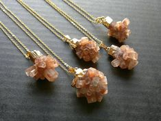 Aragonite Necklace Aragonite Jewelry Aragonite #jewelry #necklace @EtsyMktgTool #crystalpendant #crystalnecklace #golddippedstone