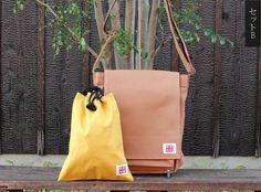 【WEB限定】ショルダーバッグ(縦型)・信玄袋(巾着)セット