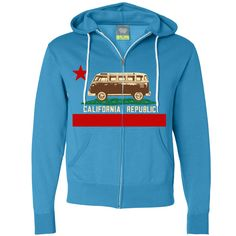 California Republic Vintage Van Zip-Up Hoodie