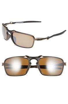 Men's Oakley 'Badman' 60mm Polarized Sunglasses - Pewter/ Tungsten Iridium